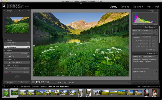 Adobe Lightroom 3 Beta -- photo credit: Adobe Systems